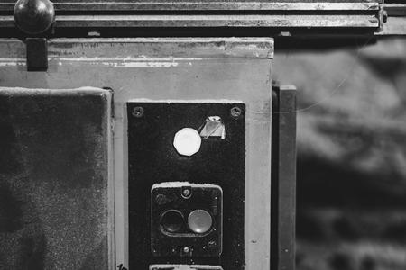 Old metal milling machine in joiner's shop