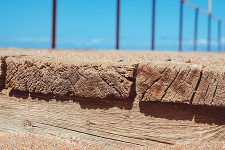 old wooden pier by the sea