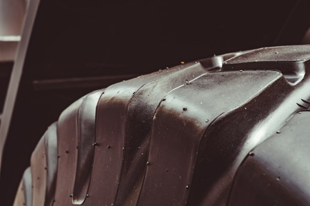 big tire texture tires from truck close-up Stockfoto