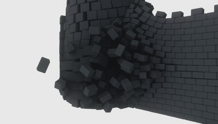 3D model of an ancient castle destroyed by the core Reklamní fotografie - 124705673
