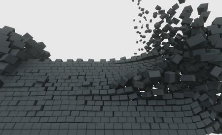 3D model of an ancient castle destroyed by the core Reklamní fotografie