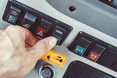 control buttons on industrial equipments