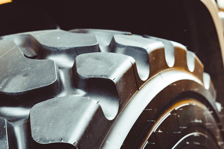Cargo tires are new at the mining exhibition Imagens - 124705806