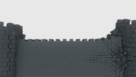 3D model of an ancient castle destroyed by the core Reklamní fotografie - 124706897