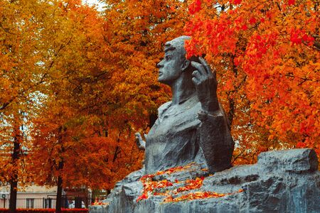 Ryazan, Russia-05 October 2019: monument to Sergei Yesenin, the great Russian poet. The author of the monument-Kibalnikov, the architect of Begun.