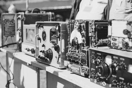 Russia, Siberia, Novokuznetsk - may 9, 2019: old radio equipment at the exhibition Editorial