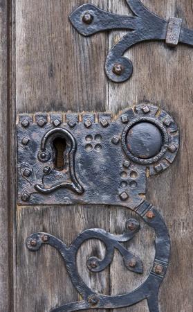 Old wooden door background texture photo