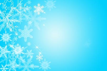 Digitally created illustration of Christmas background with simulated snowflakes and other Xmas images Stock Illustration - 8551968