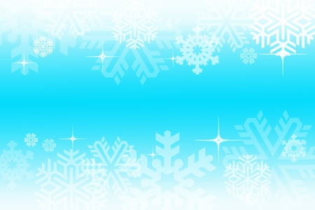 Digitally created illustration of Christmas background with simulated snowflakes and other Xmas images Stock Illustration - 8551867