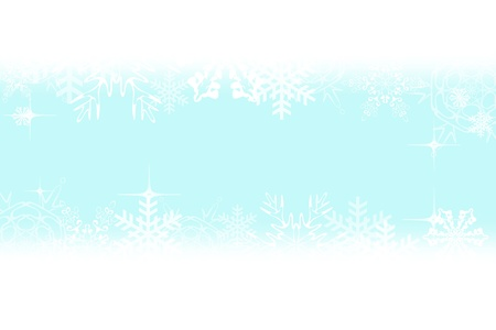 Digitally created illustration of Christmas background with simulated snowflakes and other Xmas images Stock Illustration - 8551861