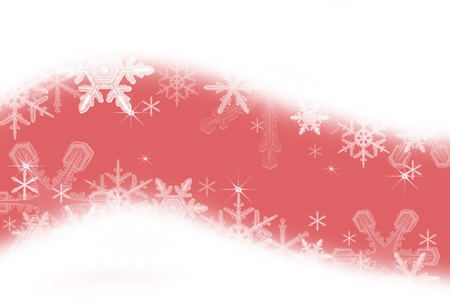 Digitally created illustration of Christmas background with simulated snowflakes and other Xmas images Stock Illustration - 8551873