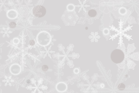 Digitally created illustration of Christmas background with simulated snowflakes and other Xmas images Stock Illustration - 8551865