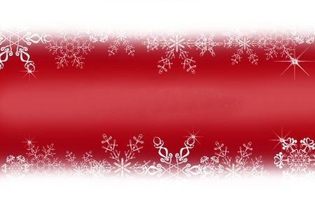 Digitally created illustration of Christmas background with simulated snowflakes and other Xmas images Stock Illustration - 8551978