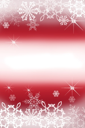 Digitally created illustration of Christmas background with simulated snowflakes and other Xmas images Stock Illustration - 8551970