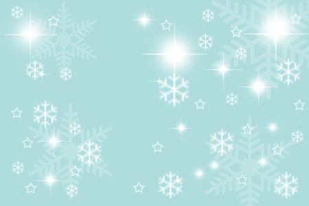 Digitally created illustration of Christmas background with simulated snowflakes and other Xmas images Stock Illustration - 8560131