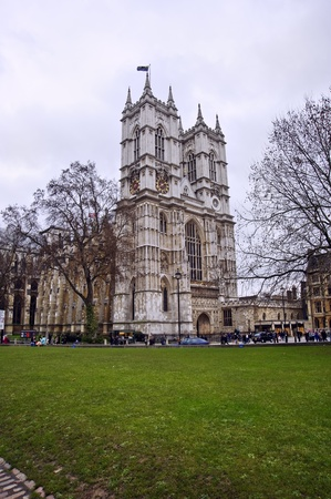 Westminster Abbey, locattion for the Royal Wedding in April 2011 between Prince William and Catherine (Kate) Middleton. Originally built in 11th Century and late updated by Sir Christopher Wren. Located in Westminster near Big Ben, Houses of Parliament an Stock Photo - 8703280