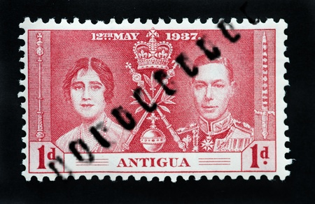 commonwealth: ANTIGUA - CIRCA 1937 - First Day Cover commonwealth postage stamp marking coronation of King George 6th