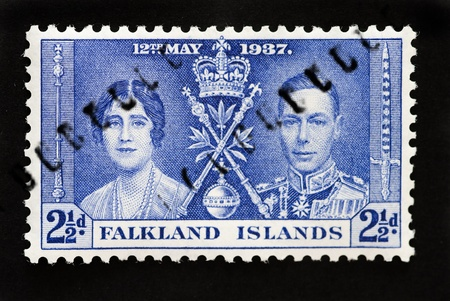 commonwealth: FALKLAND ISLANDS - CIRCA 1937 - First Day Cover commonwealth postage stamp marking coronation of King George 6th