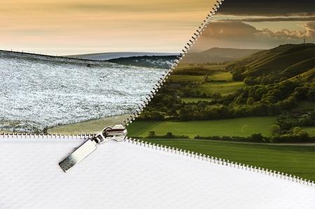 �ffnen Sie Rei�verschluss Ergebnis Landschaft Winterszene in glorious Sommerlandschaft mit textfreiraum unten �ndern Lizenzfreie Bilder