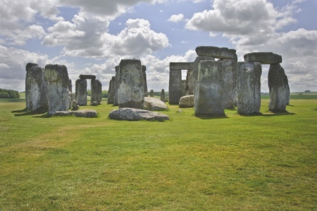 Stonehenge is aligned with the midsummer sunrise and midwinter sunset in England to celebrate the solstice.  photo