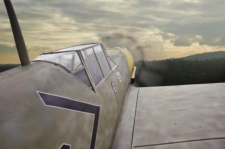 World War 2 era German airplane in flight Stock Photo - 10087415