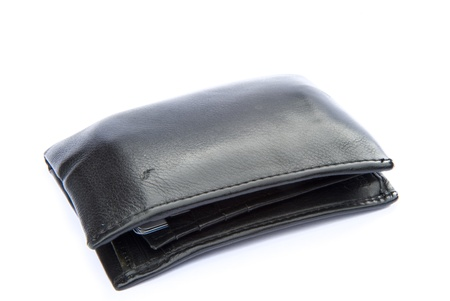 Concept image of leather wallet and financial situation photo