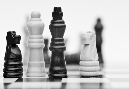 Application of chess strategy and tactics into business field concept Stock Photo - 12651516