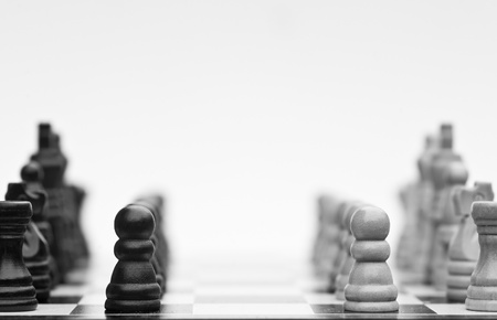 Application of chess strategy and tactics into business field concept Foto de archivo