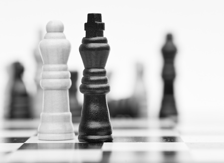 Application of chess strategy and tactics into business field concept photo