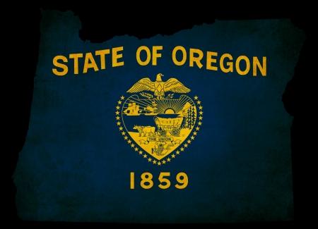 Oregon USA state grunge effect map