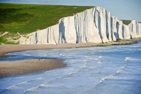 seven sisters: Landscape of Seven Sisters cliffs in South Downs National Park on English coast