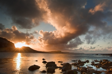 mupe bay: Beautiful sunrise landscape over Mupe Bay on Jurassic Coast in Dorset, England
