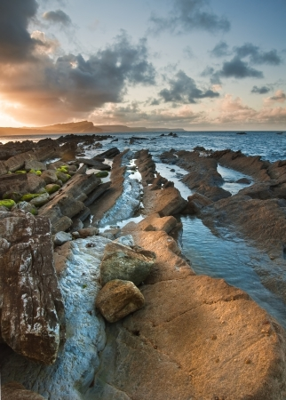 mupe bay: Beautiful sunrise landscape over Mupe Bay on Jurassic Coast in Dorset, England