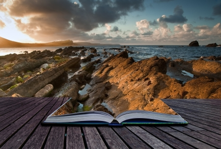 Creative composite image of seascape in pages of magic book Stock Photo - 15521728