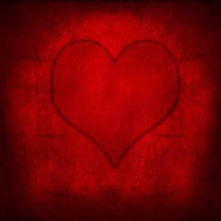 Red Valentine grunge looking background photo