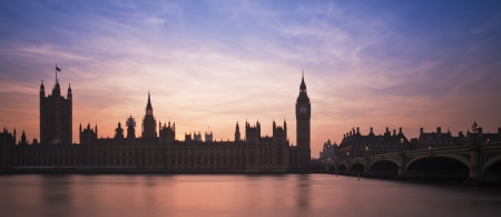 Big Ben and Houses of Parliament London during Winter sunset. photo