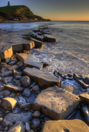 kimmeridge: Kimmeridge Bay Winter sunset