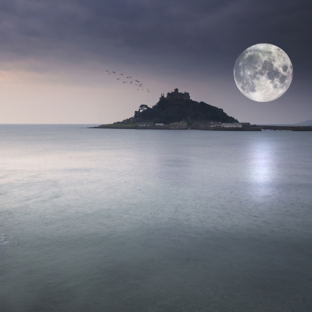 St Michael s Mount in Cornwall pre-dawn landscape photo