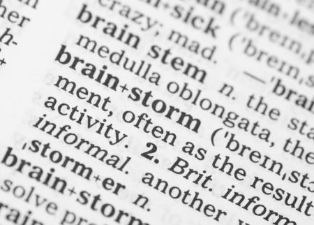 dictionary definition: Macro image of dictionary definition of word brainstorm Stock Photo