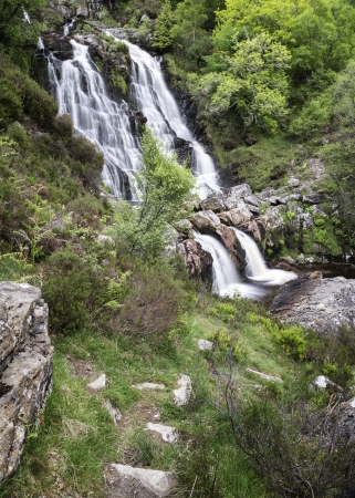snowdonia: Rhiwargor Falls in Snowdonia National Park in North Wales