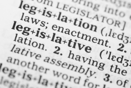legislative: Macro image of dictionary definition of word legislative Stock Photo
