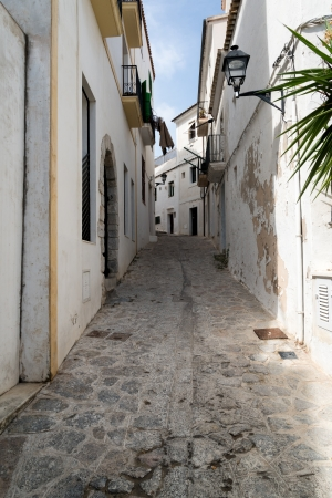 Mediterranean alley way between old houses and buildings Stock Photo - 22422976