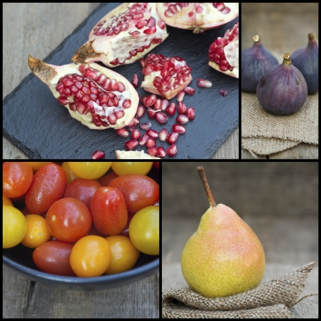 Collage compilation of various fruits photo