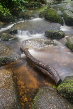 Becky Falls waterfall landscape in Dartmoor National Park England photo