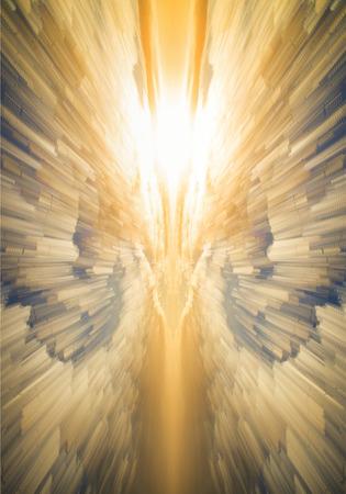 Fond céleste religieux unique créé avec des images du ciel
