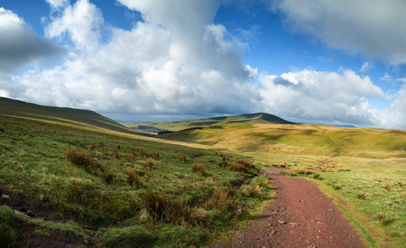 brecon beacons: Beautiful landscape of Brecon Beacons National Park with dramatic sky