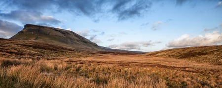 Panorama landscape Pen-y-Ghent in Yorkshire Dales England photo