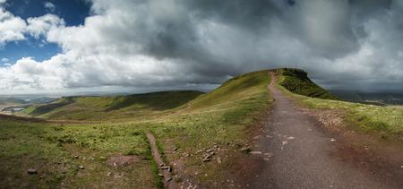 brecon beacons: Brecon Beacons National Park panorama landscape Stock Photo