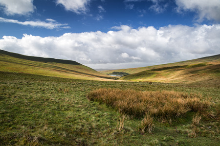 beacons: Beautiful landscape of Brecon Beacons National Park with dramatic sky