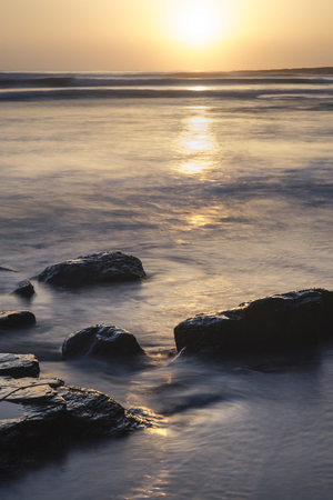 jurassic coast: Beautfiul sunset over Kimmeridge Bay Jurassic Coast England